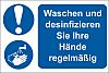 RS PRO PVC Mandatory Hygiene Sign With German