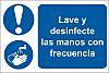 RS PRO PVC Mandatory Hygiene Sign With Spanish