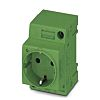 Phoenix Contact German Mains Sockets, 16A, DIN Rail,