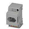 Phoenix Contact Mains Sockets, 10A, DIN Rail, 250