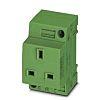 Phoenix Contact Mains Sockets, 13A, DIN Rail, 250