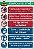 Brady Safety Wall Chart, Polypropylene, Spanish, 371 mm,