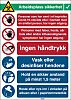 Brady Safety Wall Chart, Polypropylene, Norwegian, 371 mm,