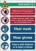 Brady Safety Wall Chart, Polypropylene, English, 371 mm,