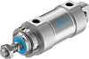 Festo Pneumatic Roundline Cylinder 63mm Bore, 25mm Stroke,