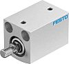 Festo Pneumatic Compact Cylinder 20mm Bore, 25mm Stroke,