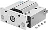 Festo Pneumatic Guided Cylinder 80mm Bore, 25mm Stroke,