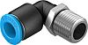 Festo Threaded-to-Tube Pneumatic Elbow Threaded-to-Tube Adapter