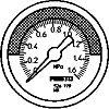FMA-63-0,25-C flanged pressure gauge
