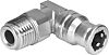 Festo Pneumatic Elbow Threaded Adapter, R 1/4 Male