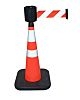 RS PRO Red & White Barrier & Stanchion,