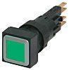 Eaton, RMQ16 Illuminated Green Square Push Button, 16mm