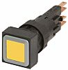 Eaton, RMQ16 Illuminated Yellow Square Push Button, 16mm