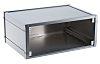METCASE Mettec, Aluminium, 230 x 193 x 85mm Desktop Enclosure, Grey