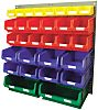 RS PRO PP Louvre Panel Storage Unit Louvred Panel, 946mm x 914mm, Blue, Green, Red, Yellow