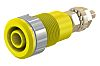 Staubli Yellow Female Banana Plug - Solder Termination,