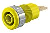 Staubli Yellow Female Banana Plug - Tab Termination,