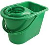 12L Plastic Green Mop Bucket With Handle