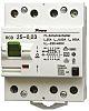 4P 25 A, Instantaneous RCD Switch, Trip Sensitivity