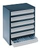 Raaco 6 Drawer Storage Unit, Steel, 435mm x