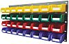 RS PRO PP Louvre Panel Storage Unit Louvred Panel, 438mm x 914mm, Blue, Green, Red, Yellow