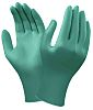 Ansell Green Nitrile Disposable Gloves size 7.5 - M Powder-Free x 100