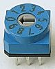 10 Way Through Hole DIP Switch, Rotary Flush Actuator