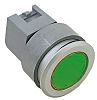 Modular Switch Actuator, Green, Screw Mount, Momentary for use with Series 04 -25°C +55°C