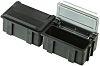 Licefa Grey, Transparent ABS Compartment Box, 21mm x