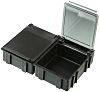 Licefa Black ABS Compartment Box, 21mm x 56mm