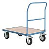 RS PRO Flatbed Wood Platform Trolley, 1000 x