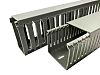 RS PRO Grey Slotted Panel Trunking - Open Slot, W72 mm x D64mm, L2m, PVC