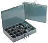 Durham 8 Cell Grey Steel Compartment Box, 50mm