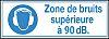 Brady 251169 1 x (French), Blue/White PET