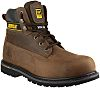 CAT Holton Brown Steel Toe Capped Mens Safety Boots, UK 12, EU 46