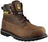 CAT Holton Brown Steel Toe Capped Mens Safety Boots, UK 7, EU 41