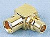 Telegartner 50Ω Right Angle Cable Mount MMCX Connector,