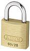 Abus 20mm Brass, Steel Key Weather Resistant Padlock