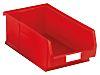 RS PRO PP Storage Bin, 200mm x 315mm, Red
