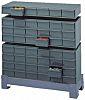 Durham 30 Drawer Storage Unit, Steel, 365mm x