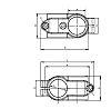 Rose+Krieger Round Tube Cross Clamp, strut profile 14