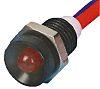 Indikátor 9.5mm Zapuštěný barva Červená, typ žárovky: LED Olověné dráty, 24V ac Tranilamp