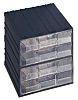 Terry 4 Drawer Storage Unit, Plastic, 208mm x