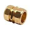 Pegler Yorkshire 10mm Straight Coupler Brass Compression Fitting