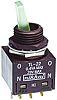 Interrupteur à levier NKK Switches, Verrouillable, 2RT, 100 mA @ 28 V c.c.