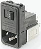 Male IEC/EN 60939 IEC Filter Panel Mount,Solder,Rated At