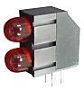 Kingbright L-1503EB/2ID, Red Right Angle PCB LED Indicator,