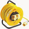Carrete de extensión 25m, 2 conectores, 25m, No, IP44 BS4343/EN60309 110V-16A, 16A, 110 V PVC BS4343/EN60309 110 V-16 A