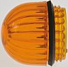 Panel Mount Indicator Lens Domed Style, Amber, 15.86mm