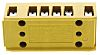 Weidmüller 6 Way Non-Fused Terminal Block, 22 → 12 AWG, 32A, Screw, Screw Terminals, Melamine, 400 V
